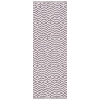 Sessums Hand-Woven Gray/Purple Area Rug Rug Size: Runner 23 x 6