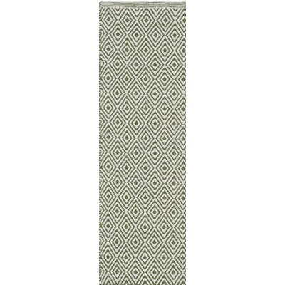Sessums Hand-Woven Beige/Green Area Rug Rug Size: Runner 23 x 6