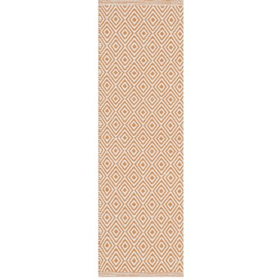 Sessums Hand-Woven Beige/Orange Area Rug Rug Size: 6 x 9