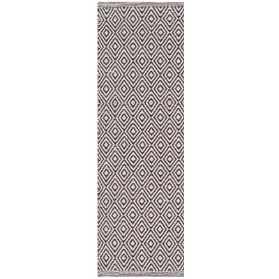 Shevchenko Place Hand-Woven Ivory/Chocolate Area Rug Rug Size: Runner 23 x 6