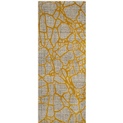 Sevastopol Gray/Yellow Area Rug Rug Size: Rectangle 3 x 5