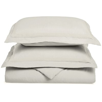 Valier Reversible Duvet Cover Set Color: Ivory, Size: Twin / Twin XL