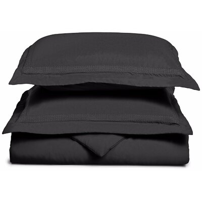 Valier Reversible Duvet Cover Set Size: King / California King, Color: Black