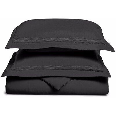 Figueroa Reversible Duvet Cover Set Color: Black, Size: Full / Queen