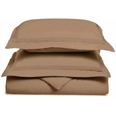 Valier Reversible Duvet Cover Set Size: King / California King, Color: Taupe