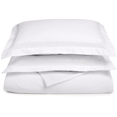 Valier Reversible Duvet Cover Set Size: King / California King, Color: White