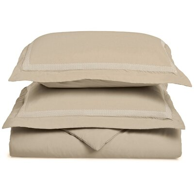 Valier Reversible Duvet Cover Set Size: King / California King, Color: Tan