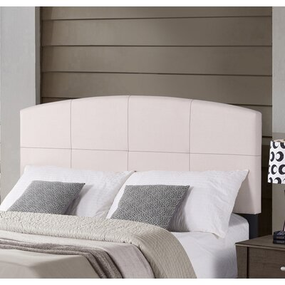 Leblanc Upholstered Panel Headboard Size: Full/Queen, Color: Ecru