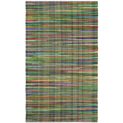 Hawley Hand-Woven Green Area Rug Rug Size: Rectangle 4 x 6