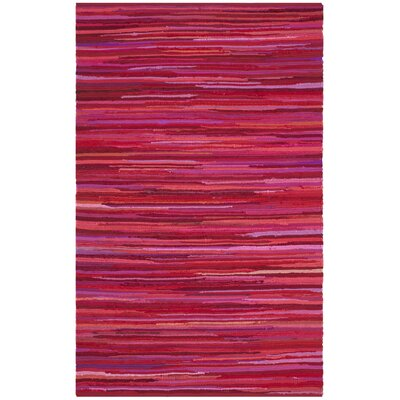 Shatzer Hand-Woven Red Area Rug Rug Size: 26 x 4