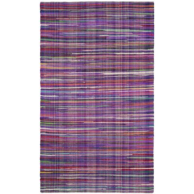 Shatzer Hand-Woven Purple Area Rug Rug Size: Rectangle 4 x 6