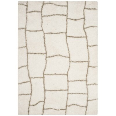 Shead Hand-Tufted Ivory/Silver Area Rug Rug Size: Square 5 x 5