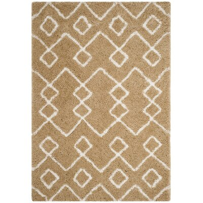 Shead Hand-Tufted Beige/Ivory Area Rug Rug Size: 3 x 5