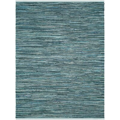 Shatzer Hand-Woven Turquoise Area Rug Rug Size: Rectangle 6 x 9