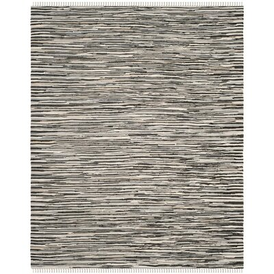 Shatzer Hand-Woven Black Area Rug Rug Size: Square 6
