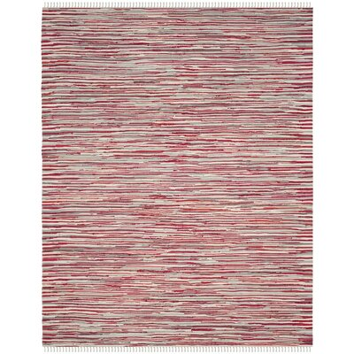 Shatzer Hand-Woven Red Area Rug Rug Size: 5 x 8