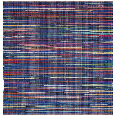 Shatzer Hand-Woven Blue Area Rug Rug Size: Rectangle 5 x 8