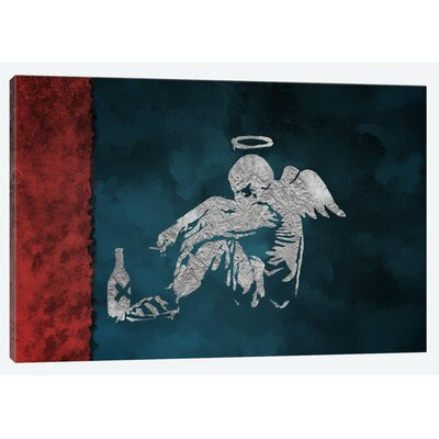 Silver Angel Graphic Art on Wrapped Canvas
