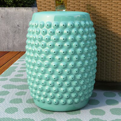 Alan Nail Head Garden Stool Finish: Aqua