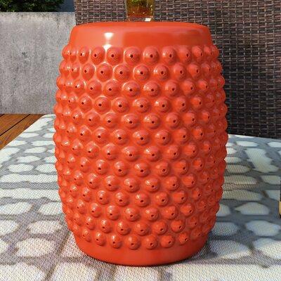 Alan Nail Head Garden Stool Finish: Orange