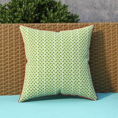 Massey Outdoor Throw Pillow Color: Green / Yellow