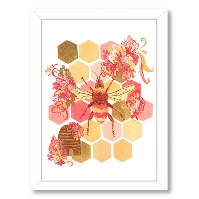 Bumblebee Onefeinday Framed Graphic Art Size: 11
