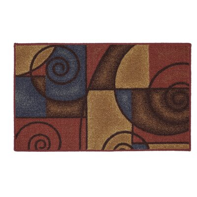 Bunnell Red/Navy Area Rug Rug Size: Rectangle 5 x 7