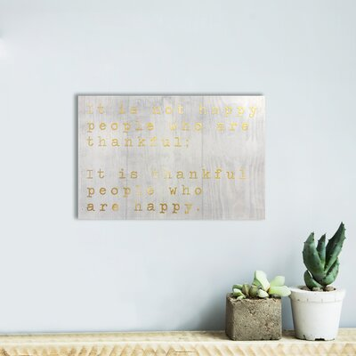 Happy People Gold Textual Art on Plaque VKGL5893 33266202