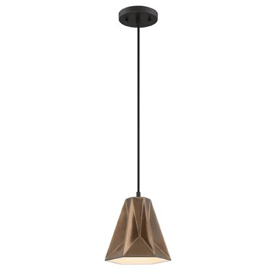 Aegeus 1-Light Mini Pendant Shade Color: Nickel Ceramic Glaze