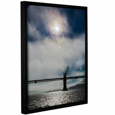 Golden Gate Silhouette and Rainbow Darker Framed Photographic Print on Wrapped Canvas Size: 10
