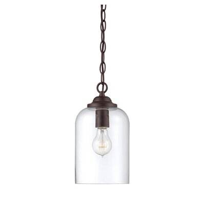 Silber 1-Light Mini Pendant Finish: Polished Nickel/Clear Glass