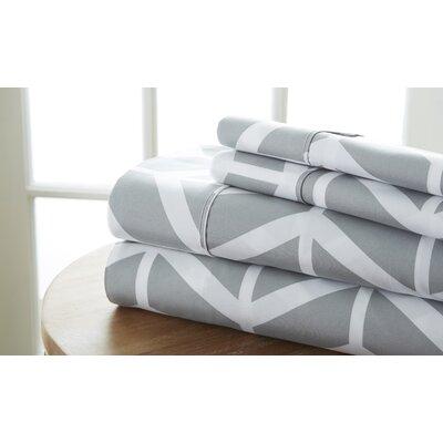 Severn Bridge Arrow Sheet Set Color: Gray, Size: King