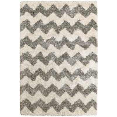 Barnhart Gray/Ivory Area Rug Size: Rectangle 53 x 76