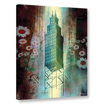 'Spring Time in The City' Graphic Art on Wrapped Canvas Size: 18