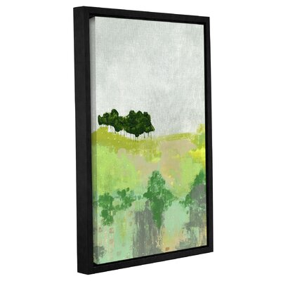 'Trees' Framed Painting Print on Wrapped Canvas Size: 12