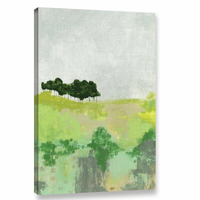 'Trees' Painting Print on Wrapped Canvas Size: 12