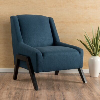 Gabler Slipper Chair Upholstery: Dark Blue