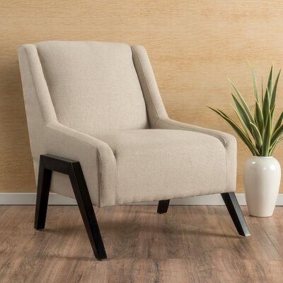 Gabler Slipper Chair Upholstery: Cream