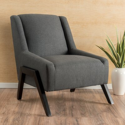Gabler Slipper Chair Upholstery: Dark Grey