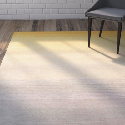 Santamaria Hand-Tufted Yellow Area Rug Rug Size: Runner 26 x 8