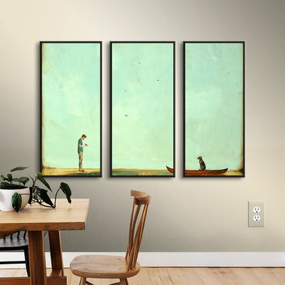 Day Training 3 Piece Framed Painting Print on Canvas Set