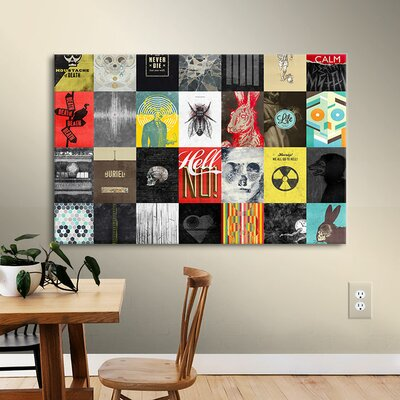 Death Skulls Graphic Art on Wrapped Canvas
