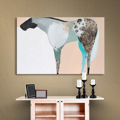Horse No. 65 Painting Print on Wrapped Canvas Size: 14