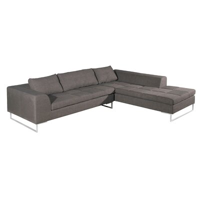 Rollins Sectional Upholstery: Charcoal, Orientation: Left Arm Facing