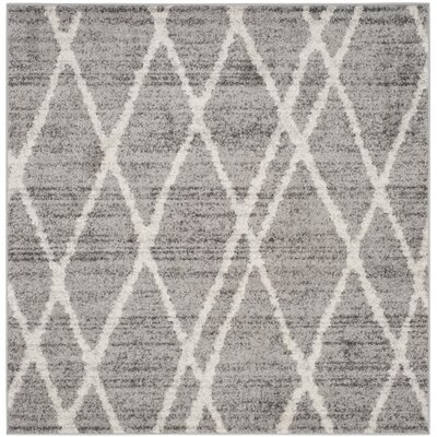 Seaport Gray/Ivory Area Rug Rug Size: Square 6