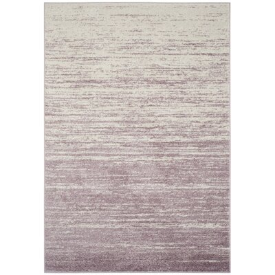 Schacher Purple/Cream Area Rug Rug Size: Runner 26 x 12
