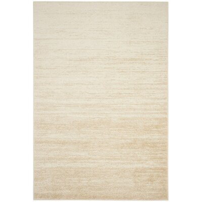 Schacher Champagne/Cream Area Rug Rug Size: Rectangle 6 x 9