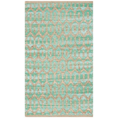 Astor Place Hand-Woven Natural/Teal Area Rug