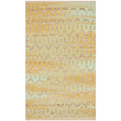 Astor Place Hand-Woven Natural/Green Area Rug