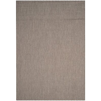 Jefferson Place Light Brown/Light Gray Outdoor Area Rug Rug Size: 53 x 77